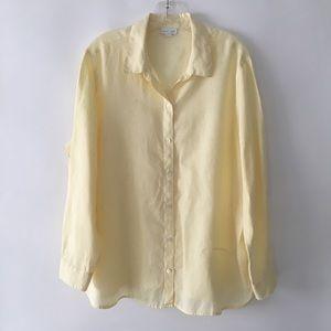 J. Jill Love Linen Button Front Shirt Top